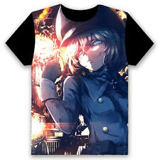Unisex Clothing Black T-shirt Short Sleevet anime Saga of Tanya the Evil #UI7