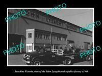 OLD 8x6 HISTORIC PHOTO OF SUNSHINE VICTORIA THE LYSAGHT ROOFING FACTORY c1960