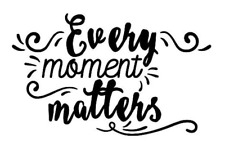 Every Moment Matters Vinyl Wall Mirror Decal Room Decor Sticker Motivation Quote