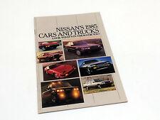 1985 Nissan Sentra Pulsar NX Stanza 200 SX Mxima 300 ZX 4x4 4x2 Trucks Brochure