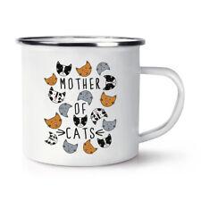 Mère de Chats Rétro émail Tasse-Drôle Crazy Cat Lady Camping
