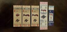 1991, 1992, 1993 World Series Atlanta Braves Ticket Stubs. *Vintage