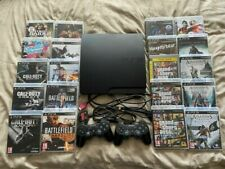 Sony PlayStation 3 / PS3 Slim 160GB Console & 20 Games / 2 Controllers  Bundle