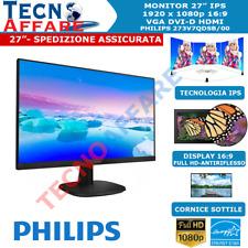 Monitor LCD IPS Full HD 27 Pollici 16:9 VGA DVI PC Philips 273V7QDSB/00