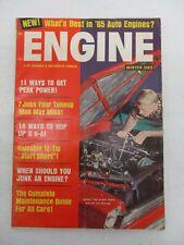 ENGINE MAGAZINE WINTER 1965 12 TIP START CHART AUTO ENGINES 14 WAYS TO HOP A V-8