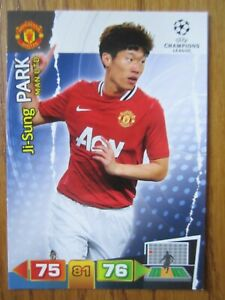 Ji-Sung Park of Manchester United Champions League 2011/12 base card