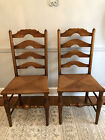 2 Antique Stickley Ladder Back Chairs Fayetteville Signed  LOCAL PICK UP ONLY!!