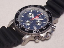 CX SWISS MILITARY NAVY DIVER CHRONOGRAPH, 200M DIVER , SWISS MADE, NEW CONDITION