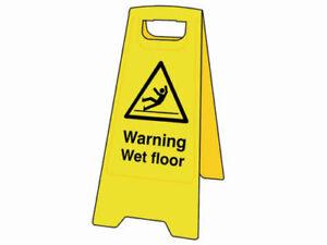 3 x Scan SCA4702 Heavy-Duty 'A' Board: Warning Wet Floor Bulk Job Lot - New