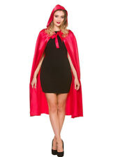 Morbido raso Little Red Riding Hood Cape & Hood Fiaba, HALLOWEEN FANCY DRESS