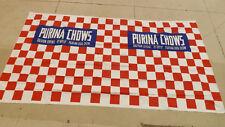 VTG Purina Ralston Cereal,Ry-Crisp,Dog Chow Plastic Banner 4'x 8' NOS Sign