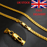Unisex 18K Gold plated Curb Snake Chain Necklace 50cm/5mm perfect christmas gift
