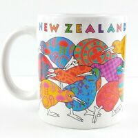 New Zealand Kiwi Mug Cup Colorful Patchwork Paisley Souvenir Coffee Tea