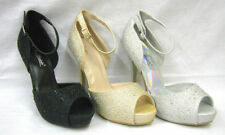Party Textured Synthetic Heels for Women