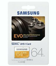 64GB Samsung Evo SDXC 48MB/s Memory Card For Nikon D5300 Digital Camera
