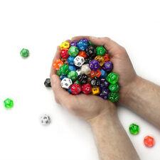 Lot of 6 Plastic 18mm D12 Gaming Dice Twelve Sided Die Rpg D&D Six Colors Set