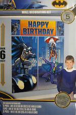 Giant Batman Wall Decoration Kit (6' Tall) 5 Decorations inc Happy Birthday