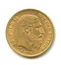 Belgique 20 francs OR Léopold II 1870 n°E2467