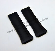 Compatib. Porsche Design Diver P6780 27mm Black Rubber Watch Band Strap 6780