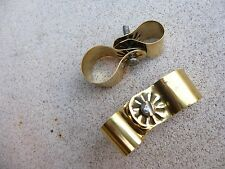 2 x VN23 BRASS MOUNTING CLIPS - FOR VINTAGE PEDAL CAR CYCLOPS BIKE BICYCLE HORN