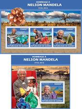 Nelson Mandela Minerals Nobel Prize Peace Politics Guinea MNH stamp set