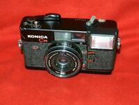 ]  Konica C35 AF Film Camera w/HEXANON 38mm F2.8 Lens READ Camera works/Flash No