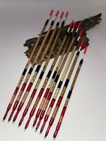 Handmade Scorched Reed Waggler Fishing Floats Vintage Traditional. Set of 10