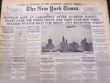 1928 OCT 16 NEW YORK TIMES - ZEPPELIN SAFE AT LAKEHURST AFTER 111 HOURS- NT 5332