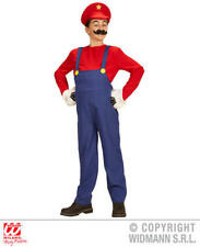 Childs Kids Plumber Boy Mario Fancy Dress Costume Computer Game Outfit 11-13 Yrs