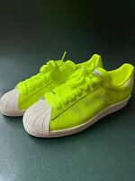 ADIDAS PALACE SUPERSTAR TRAINERS FLOURO BOXED NEW UK 8