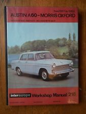 Austin A60-Morris Oxford from 1961-1969 Intereurope Workshop Manual 218
