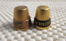 2 VINTAGE TOLEDO SPAIN GOLDTONE THIMBLES