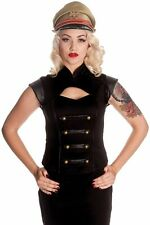 Hell Bunny Spin Doctor Watch Corset Top- UK Size 12