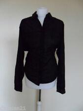 Womens DKNY top/shirt, size S (8-10), black, long sleeve, brand new