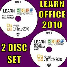 TEACH YOURSELF OFFICE 2010 EASY VIDEO TRAINING GUIDES BY EXPERTS 2 PCDVD SET NEW