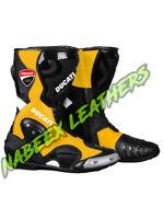 Ducati Motorbike Racing Leather Boots-Motorradstiefel-botas-Stivali da moto