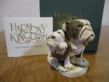 Harmony Kingdom Dead Ringer BullDog and Pup's Mailman's Encounter Uk Made