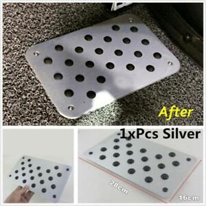 Car Silver Alloy Non-slip Rubber Plate Pedal Carpet Floor Mat car-styling Pads