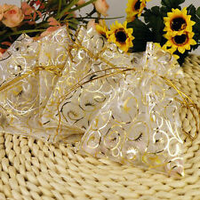 100pcs Organza Bags Wedding Favors Candy Bag Birthday Bouquet Mesh Gift Decor