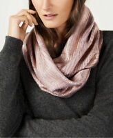 INC Womens Pink Liquid Shine Infinity Scarf One Size