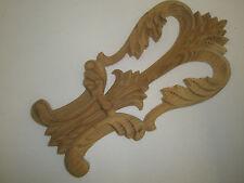 Décorative sculptée à la main en bois de pin évasée parchemin centre pièce (108)