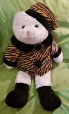 Jumbo Animal Alley Plush Teddy Bear Stuffed Tiger Print Winter Outfit Coat Hat