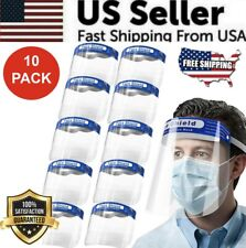 Face Shield Reusable Washable Protection  Anti-Splash (10 PCS)