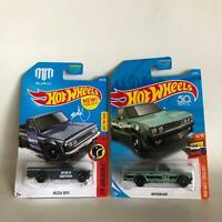 Hot Wheels Lot 2x Mazda Repu HW Daredevils #1 / Datsun 620 HW Hot Trucks #4 F10