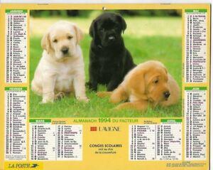 Almanach 1994 Calendrier de la poste PTT - HAUTE-SAONE 70  & Ter. de BELFORT 90