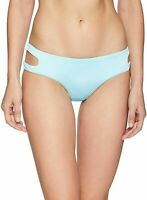 THE BIKINI LAB Women's Swimwear Blue Size Large L Cutout Hipster Bottom $49 #409