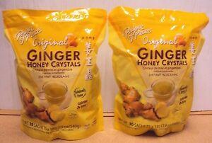 2 Pk Prince Of Peace-Instant Ginger Honey Crystal Tea Original 30x18g Bag=60 Bag