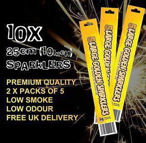 25cm Hand Held Sparklers Pack Of 5 Bonfire Christmas Fireworks Outdoor x2 packs