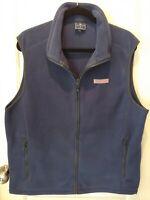 VINEYARD VINES Men's Fleece Vest Blue Zip Up Size Medium *VGC*