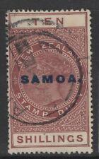 SAMOA SG131 1917 10/= MAROON USED